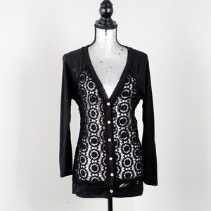 NWOT Style & Co lace and cotton cardigan - M